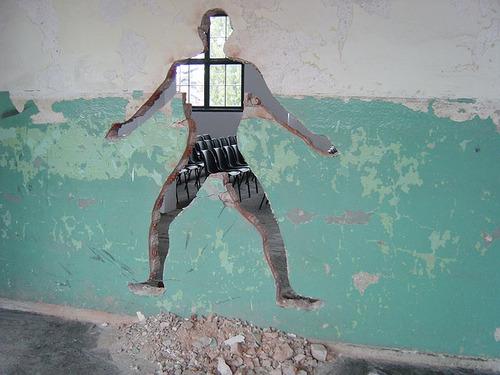 ебуца через стенку фото