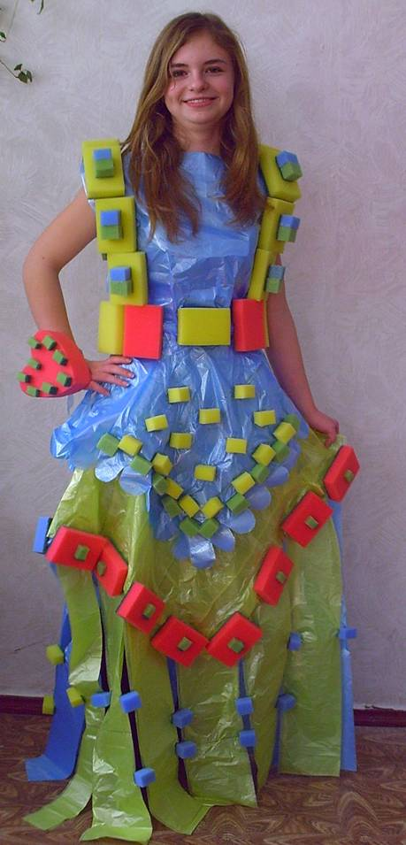 Как сделать из пакетов платье своими руками